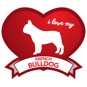 I Love My French Bulldog with Shaded Heart Magnet