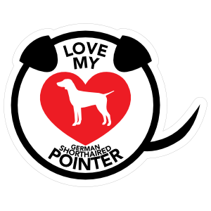 I Love My German Shorthaired Pointer Puppy Heart Circle With Ta