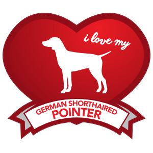 I Love My German Shorthaired Pointer with Shaded Heart Sticker