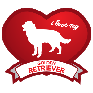 I Love My Golden Retriever with Shaded Heart Magnet