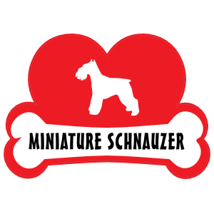 I Love My Schnauzer with Dog Bone and Heart Sticker