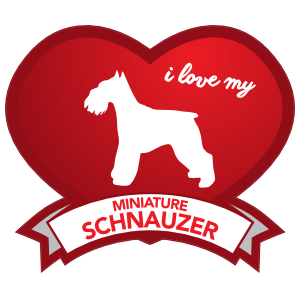 I Love My Schnauzer with Shaded Heart Sticker