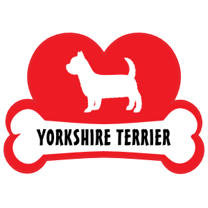 I Love My Yorkshire Terrier With Dog Bone And Heart Magnet