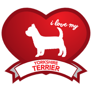 I Love My Yorkshire Terrier With Shaded Heart Sticker