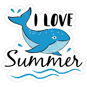 I love Summer Sticker