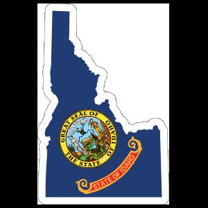 Idaho Flag State Sticker