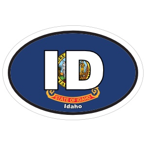 Idaho Id State Flag Oval Magnet
