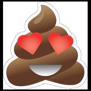 In Love Poop Emoji Sticker