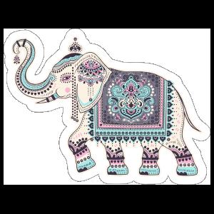 Indian Elephant Boho Sticker