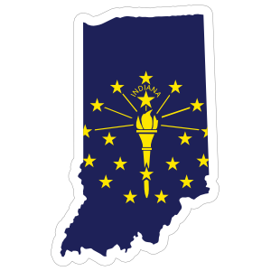 Indiana Flag State Sticker