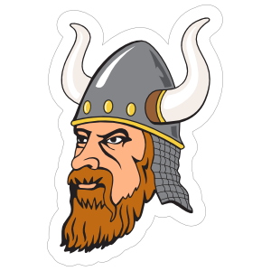 Intense Viking Mascot Sticker