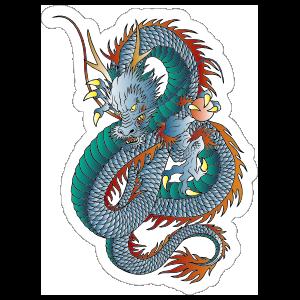Intimidating Chinese Dragon Sticker