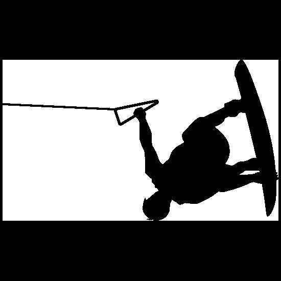 Inverted Wakeboarder Sticker