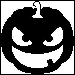 Jack-O-Lantern With One Tooth Sticker