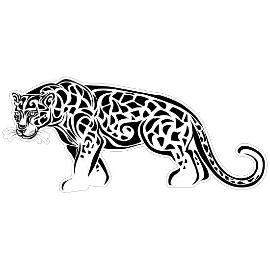 Detailed Jaguar Sticker