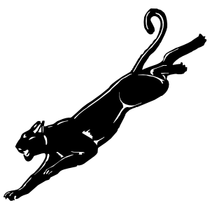 Jaguar Pouncing Sticker