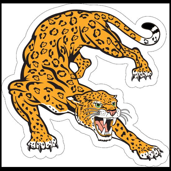 Jaguar Mascot Sticker