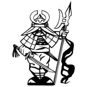 Japanese Man Warrior Sticker