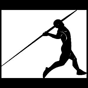 Javelin Thrower Sticker