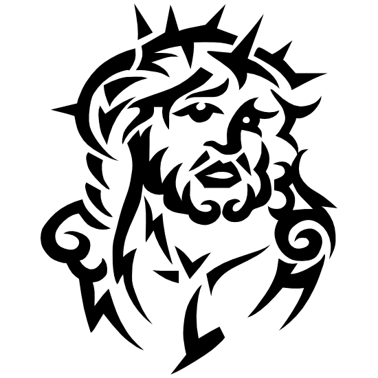 Jesus Head With Thorn Crown Sticker