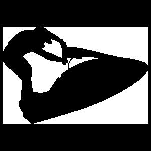 Jet Skier Standing Sticker