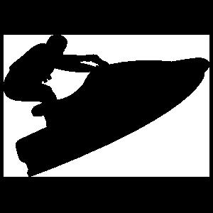 Jet Skier Sticker