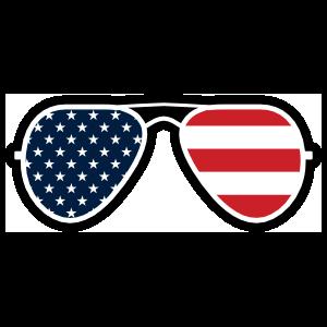 Joe Biden American Flag Sunglasses Sticker
