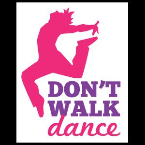 Jumping Dancer Don't Walk Dance Sticker