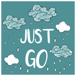Just Go Square Sticker