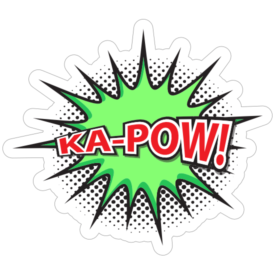 Ka Pow Comic Sticker