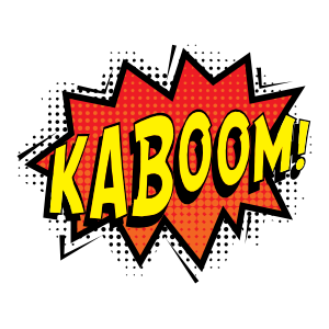 Kaboom Comic Sticker