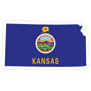 Kansas Flag State Sticker