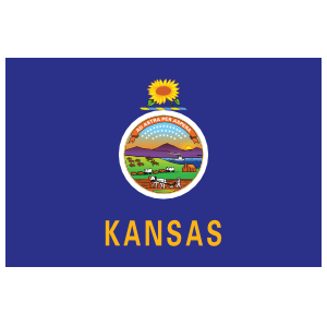 Kansas Ks State Flag Magnet