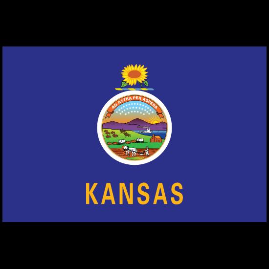 Kansas Ks State Flag Magnet