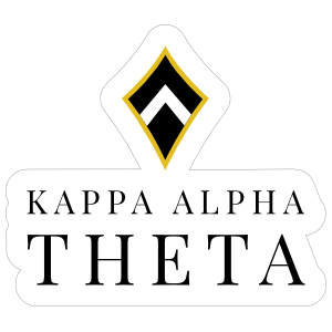 Kappa Alpha Theta Stacked Logo Kite Sticker
