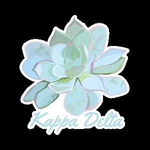 Kappa Delta Green and Blue Succulent Sticker