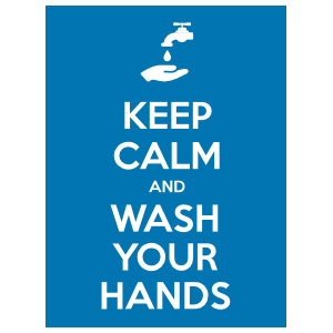 Keep Calm and Wash Your Hands Sticker