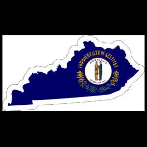 Kentucky Flag State Sticker