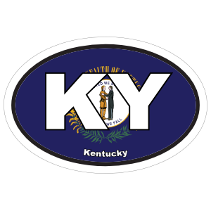 Kentucky Ky State Flag Oval Sticker