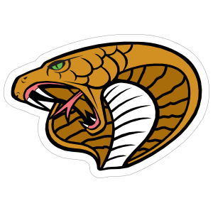 King Cobra Head Mascot Sticker