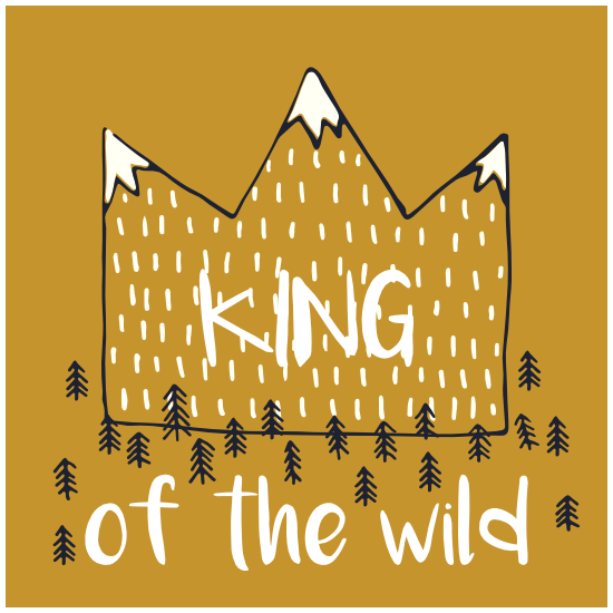 King Of The Wild Square Sticker