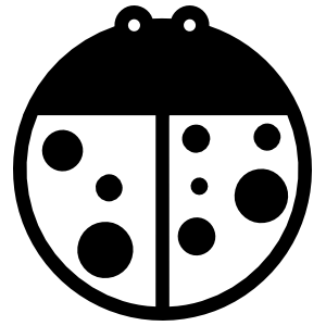 Ladybug Without Antennas Sticker