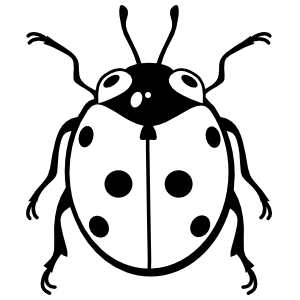 Ladybug With Big Eyes Sticker