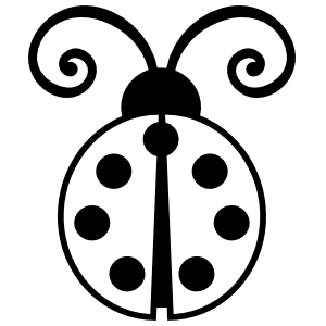 Ladybug With Curly Antennas Sticker
