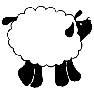 Adorable Detailed Sheep Lamb Sticker
