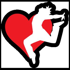 Landing Dancer with Heart Sticker