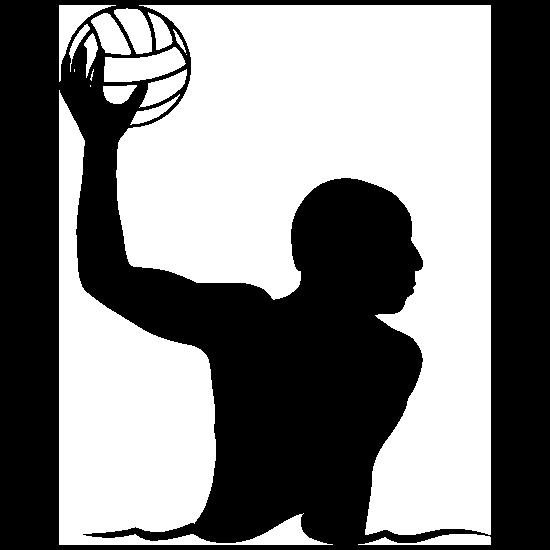 Lead Scoring Water Polo Player Sticker