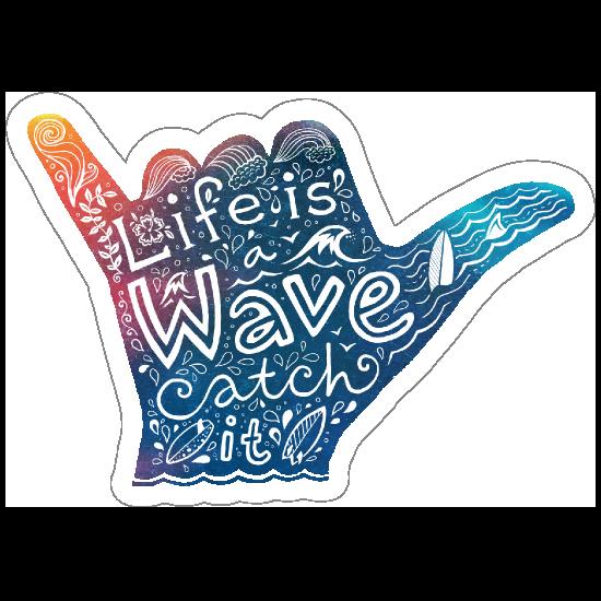 Life is a Wave Hippie Sticker
