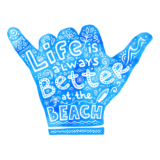 Life is Better at the Beach Hippie Sticker