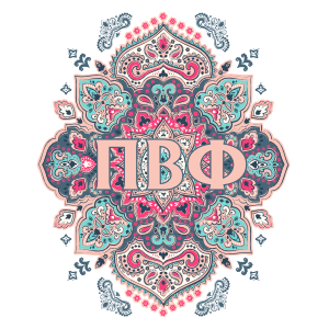 Light Pink and Blue Pi Beta Phi Mandala Sticker